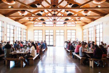 Event participants enjoying lunch